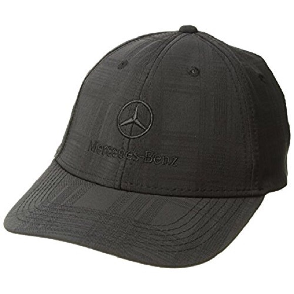 NWOT Mercedes Benz Black Plaid Embroidered Hat 3004d5aec15